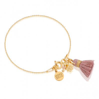 Bracelet with a Dahlia Rosette and tassel
