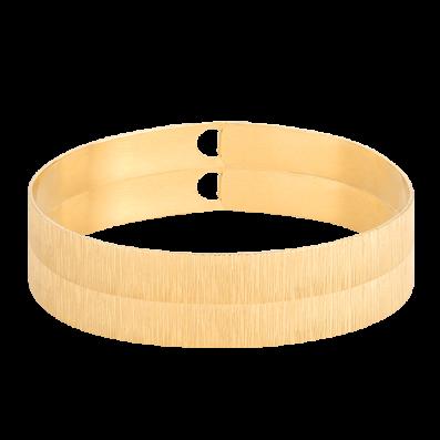 Draped hoop bracelet
