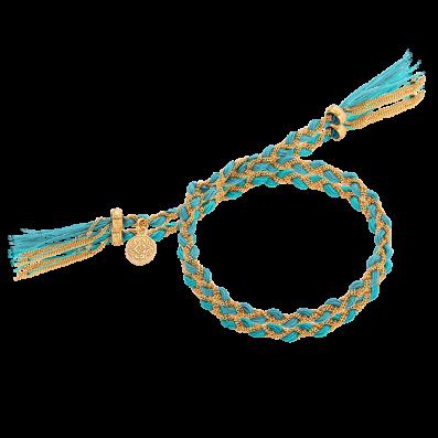 Turquoise royal braided bracelet
