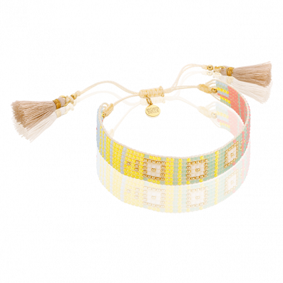 Pastel-neon beaded bracelet