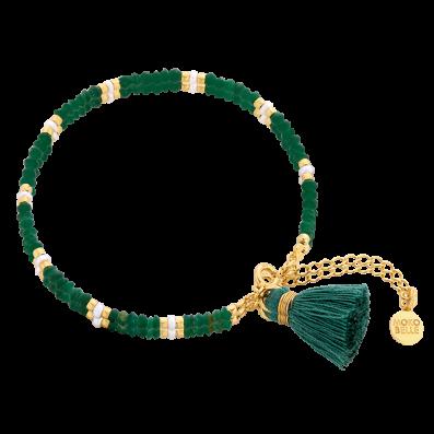 Green jade bracelet with a tassel