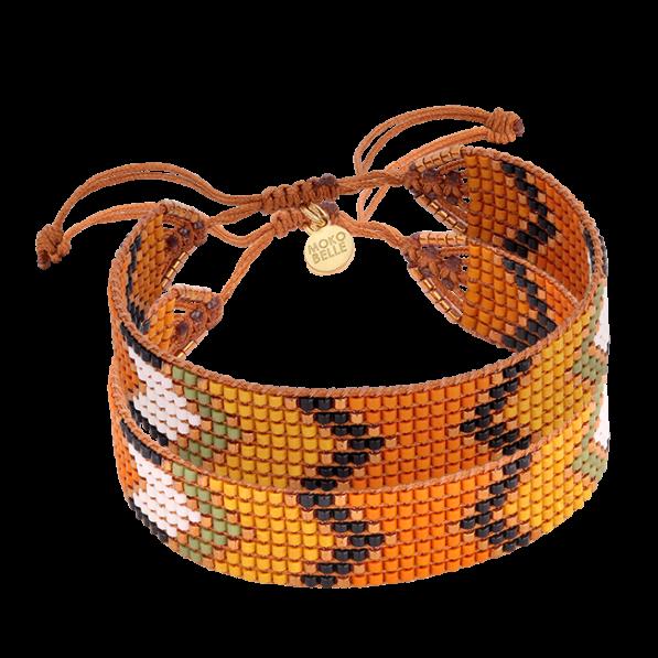 Kolorowa plecionka z indiańskim wzorem
